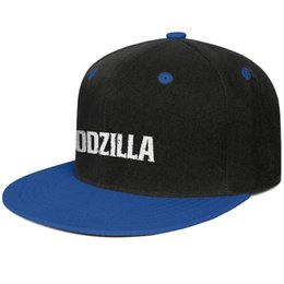 $enCountryForm.capitalKeyWord UK - Godzilla Blue mens and womens baseball flat brim cap cool fitted custom sports fashion baseball team trendy personalised flat brim hats
