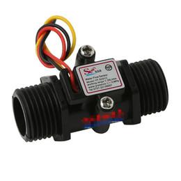 Hall flow sensor online shopping - Water Flow Meter Flowmeter Hall Flow Sensor indicator counter caudalimetro black G1 L min MPa F Q Flow sensor