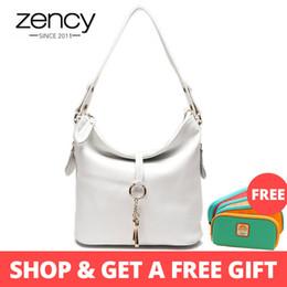$enCountryForm.capitalKeyWord Australia - Zency New Fashion Designer Women Shoulder Bag Metal Tassel 100% Real Leather Lady Crossbody Messenger Elegant Gift Handbag White Y19061301