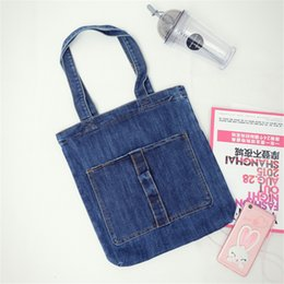 Discount cowboy shoulder bag - Cowboy Series Women Fashion Shoulder Bag Washable Material Double Pocket High Capacity Hand Bags Foldable Casual Totes Z