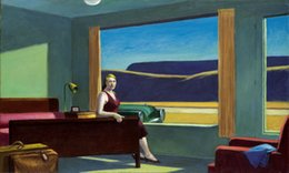 Discount western home decor Edward Hopper Western Motel Home Decor Handpainted &HD Print Oil Painting On Canvas Wall Art Canvas Pictures 200208