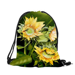 e7322d141fdb Discount beautiful backpacks women - Femme Sac A Dos Beautiful Sunflower 3d  Printed Shoulder Bag For