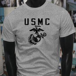 $enCountryForm.capitalKeyWord NZ - United States Marine Corps Armed Forces Anchor Mens Gray T-Shirt T Shirt For Men Geek Custom Short Sleeve Valentine's XXXL Group T Shirt