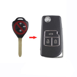 Key Shell Case Toyota Australia - 3 Buttons Remote Car Key Shell Folding Flip Key Case Cover For Toyota Camry Corolla Reiz RAV4