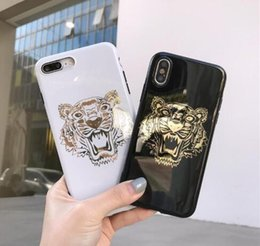 $enCountryForm.capitalKeyWord Australia - Hot stamping Tiger phone case For iPhone Xs Max Xr Xs 7 plus 6 6S plus 8 8plus X Mobile phone shell Deliver beautiful packaging