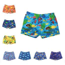 1fed36663f 8 Styles 2019 Summer kids swimwear Cartoons Printed boys shorts Beach Swim  Trunks Swimsuits children piece swim suit One-Pieces Clothing