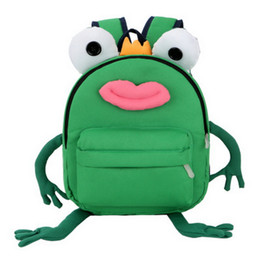 $enCountryForm.capitalKeyWord Australia - Children Mini Nylon Backpack 3D Design Cartoon Frog Adorable Girls Cute Backpack Daily School Backpack Kids Holiday Travel Bag