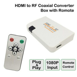 Rca Remotes online shopping - Hot Universal HDMI To RF Coaxial Converter Box Adapter Cable with Remote Control Power Supply