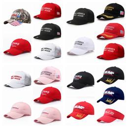 Ingrosso 2020 US presidenziale Fai di nuovo grande America HatCap Donald Trump Republican Berretto da baseball Reggiseno da baseball regolabile da 20 colori