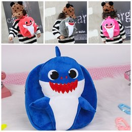 New arrival kids school bags online shopping - Baby Shark Plush Backpack Pinkfong Color Mix Trumpet Kindergarten Kids School Bag Popular Storage Bags New Arrival mg E1