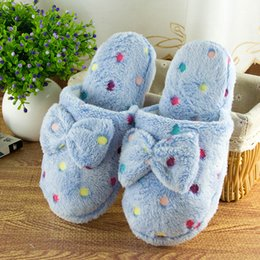 $enCountryForm.capitalKeyWord Australia - Winter Warm Slippers Women Home Shoes Short Plush Soft Sole Women Indoor Floor Slippers Butterfly-Knot Fashion Home