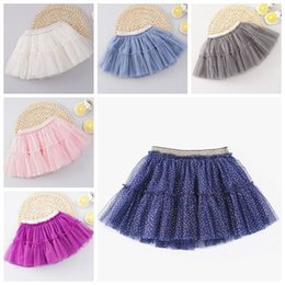 Baby Pettiskirts Tutus Australia - 2019 summer little girls tutu skirts baby glitter pettiskirts kids princess tulle skirt childrens boutique clothing birthday party supplies