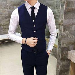 $enCountryForm.capitalKeyWord Australia - Mens Business Suit Slim Vest Sleeveless Fashion Solid Color Mens Outerwear Male Clothing