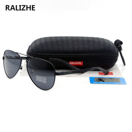 d5887ed702f RALIZHE Brand Mens Womens Vintage Polarized Designer Sunglasses HD TAC  UV400 Black Lens Aviation Gold Metal Sun Glasses Sport High Quality. NZ 10.22  ...
