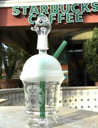 sandblasted water bongs NZ - Cheap starbuck bongs mini Starbucks Cup glass bongs sandblasted glass pipes for smoking oil rigs glass water bongs and nail hookah
