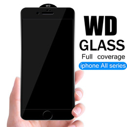Iphone Glasses NZ - WD Full Coverage Protective Glass Film For iPhone 6 6S 7 8 plus XS MAX Class For Samsung M10 A10 A30 A50 A80 A90 Screen Protector