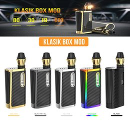 Vape starter kit free shipping online shopping - 100 Authentic Kangvape Klasik Box Mod Kit mAh Preheat Battery Variable Voltage Vape Pen Starter Kit For Thread Color