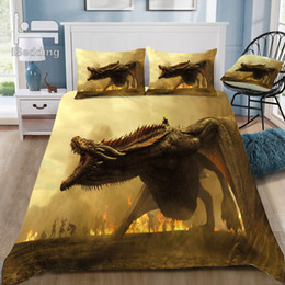 $enCountryForm.capitalKeyWord Australia - Hot Game-of-thrones-8 Dragon 3D Bedding Set Printed Duvet Cover Set Twin Full Queen King Size Dropshipping