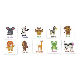 toddlers puzzles Australia - Toddler Iron Box Cards Baby Kids Cognition Puzzle Toys Matching Game Cognitive Pair Puzzle Card Tree Fruit Animal Letter Set