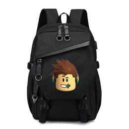 $enCountryForm.capitalKeyWord UK - Roblox Schoolbag Backpack Bags for boys girls kids students Unisex Shoulder bag back to school supplies Black
