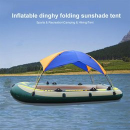 Wholesale 4 Person Inflatable Boat Tent Waterproof Boat Shelter Kayak Accessories Fishing Sun Shade Rain Canopy Kayak Sailboat Awning Top