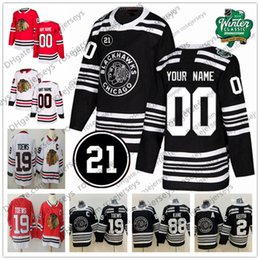 4addd82d3 Custom Chicago Blackhawks 2019 Winter Classic Black Jersey 21 Any Number  Name men women youth kid White Red DeBrincat Gustafsson Kane Toews