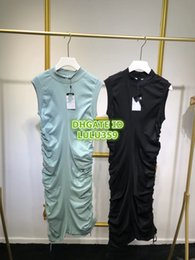 $enCountryForm.capitalKeyWord Australia - 2019 Women Fashion Luxury Designer Slim Pleated Band Shirt Dress High End Custom Grils Runway Female STRETCH VISCOSE T-Shirt Vest Dress