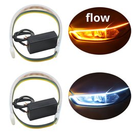 Truck led headlighTs online shopping - 2pcs Waterproof Flexible Headlight Led Strip Light Universal Truck Led DRL Daytime Running Light Flowing Turn Signal Lights