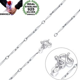 $enCountryForm.capitalKeyWord Australia - OMHXZJ Wholesale Personality Fashion Unisex Party Wedding Gift Silver 1MM Twisted Chain 925 Sterling Silver Chain Necklace NC174