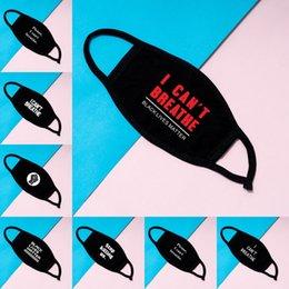En stock I Cant Breathe Masques visage Masques de coton lavables vie noire Matière Masques Mode Masque Designer pour adultes DHL Livraison en Solde