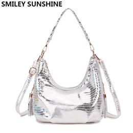 $enCountryForm.capitalKeyWord Australia - Smiley Sunshine Hobo Messenger Bag Women Shoulder Bags Handbag Female Silver Small Crossbody Bags For Women 2019 Ladies Hand BagMX190822