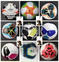 Опт Лучший PU мяч футбольный мяч 2019 2020 финал Киев размер 5 шаров гранулы скольжению футбол Бесплатная доставка