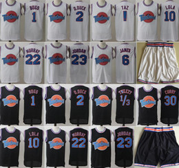 Wholesale movies resale online - Space Jam Jersey Movie Tune Squad Looney Daffy Duck Bill Murray Lola Bugs Bunny TAZ Tweety Michael James Curry Basketball Shorts Black White
