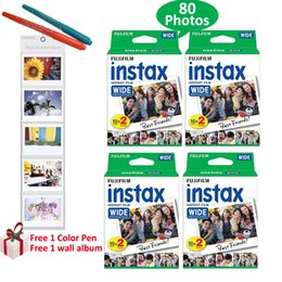 Fuji polaroid camera online shopping - Genuine Fujifilm Instax Wide Film Photots White Film For Fuji Instant Polaroid Photo Camera Free Gifts