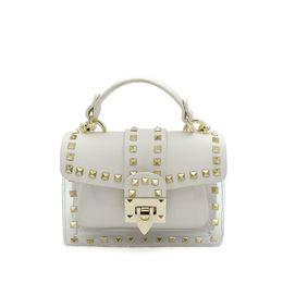small handbags for cell phones 2019 - Luxury Handbags Women Bags Designer Rivet Transparent Clear Bag White Clutch Purse Small Crossbody Bags for Women 2019 S