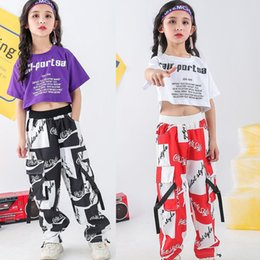 $enCountryForm.capitalKeyWord Australia - Kids Sweatshirt T Shirt Top Sport wear Pants Hip Hop Clothing Outfits Girls Dance Stage Costume Ballroom Dancing Street wear