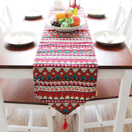 table runners cotton NZ - 30x180cm Bohemian Cotton Table Runner Tassel Tablecloth Table Mat Dining Coffee Cloth Bed Runner Home Decor