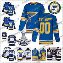 st louis blues jerseys Australia - St. Louis Blues 2019 Champions Stanley Cup Custom Any Number Name Stitched Blue #62 Mackenzie MacEachern 44 Chris Pronger Hockey Jersey