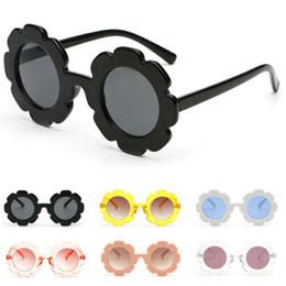 Girls flower sunGlasses online shopping - Sun Flower Round Sunglasses Cute Boys kid Girls UV400 Baby Glasses Eyewear Gift Outdoor Sports Sunglasses KKA7047