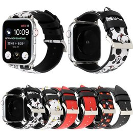 Real watches online shopping - For Apple Watch Strap Bands Genuine Real Leather Cute Cartoon Fashion Straps Band mm mm Bracelets