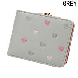 $enCountryForm.capitalKeyWord NZ - Hot Sale Fashion Heart Shape Purse Wallet Card Holder Cash Ladies Coin Purse For Gift Drop Shipping Wholesale