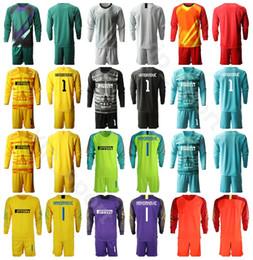 Soccer goalie jerSey online shopping - 2019 Long Sleeve Goalkeeper Goalie Soccer CANDREVA Jersey Set HANDANOVIC BERNI PADELLI Football Shirt Kits Uniform