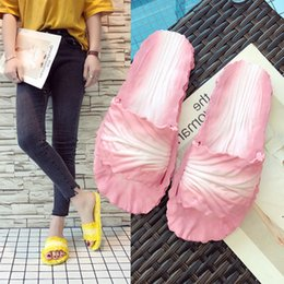 61f95a765 Women s Slippers Home Bathroom Flip Flops Funny Shoes Cabbage Flat Non Slip  Soft Slip On Outdoor Slides Lady Summer Beach Shoes