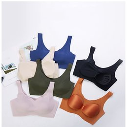 $enCountryForm.capitalKeyWord NZ - Explosion models peace of mind four generations still no trace no rims bra V-neck one-piece vest sleep sports underwear