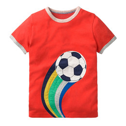 cheap branded kids clothes 2019 - wholesale kids boutique clothing design red kids t shirt printing cheap boy girls clothes sale online