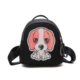 Children Pu Leather Backpacks Cute Dog Zipper Kids Kindergarten Shoulder School  Bags Casual Parent Children Lovely Puppy Bag 94b55dcf64344