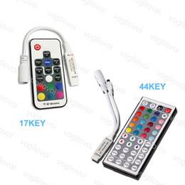 $enCountryForm.capitalKeyWord Australia - LED RGB Controller DC12V 6A 17key 44key Mini RF Wireless Remote Dimmer For 5050 3528 RGB Flexible 144W 288W 5050 Strip Light DHL