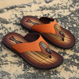 $enCountryForm.capitalKeyWord Australia - 2019 new designer sandals Leather flip-flops causal Non-slip summer huaraches slippers flip flops slippers summer outdoor beach slippers
