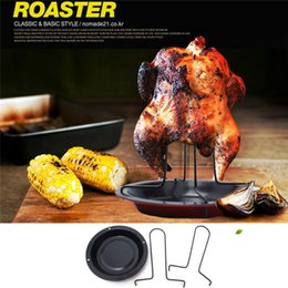 $enCountryForm.capitalKeyWord Australia - Chicken Duck Holder Rack Baking Dishes Pans Grill Stand Roasting For BBQ Rib Non-Stick Carbon Steel