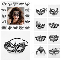 hot woman face mask Australia - hot Women Venetian Party Masks Black Metal Dress Costume Shows Wedding Masquerade mask Face Mask Halloween decorationT2I5348